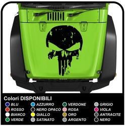 sticker hood Skull for jeep wrangler sticker for jeep renegade and wrangler are to be affixed on the bonnet, Trailhawk 4x4