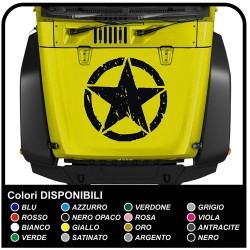 adhésif bonnet ÉTOILE pour jeep wrangler autocollant pour jeep renegade et wrangler doivent être apposé sur le capot, 4x4