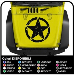 adhesive bonnet STAR for jeep wrangler sticker for jeep renegade and wrangler are to be affixed on the bonnet, Trailhawk 4x4