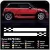 MINI COOPER kit adhesive strips chess COUNTRYMAN John Cooper ONE sides racing ALL mini MODELS Stripes Rally