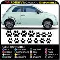 14 zampette adesive ADESIVI PER AUTO MOTO CASCHI camper OTTIMI PER COPRIRE PICCOLI GRAFFI
