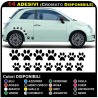 14 paws stickers CAR STICKERS MOTORCYCLE HELMETS, camper GREAT FOR COVERING SMALL SCRATCHES