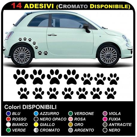 14 zampette adesive GRANDI ADESIVI PER AUTO MOTO CASCHI camper OTTIMI PER COPRIRE PICCOLI GRAFFI
