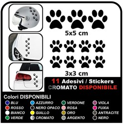 11 paws stickers CAR STICKERS MOTORCYCLE HELMETS, camper