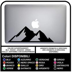 Sticker MONTAGNES - MONTAGNES - POUR TOUS les MODÈLES DE Mac Book Apple AUTOCOLLANT POUR n'IMPORTE quel ORDINATEUR qui n'est