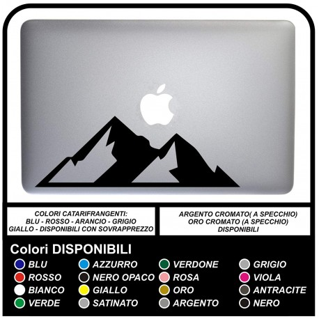 Sticker MOUNTAINS - MOUNTAINS - FOR ALL MODELS OF Mac Book Apple STICKER FOR ANY COMPUTER NOT made by APPLE