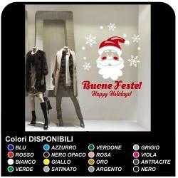 Sticker weihnachten - Weihnachtsmann im schnee - Aufkleber weihnachts - Schaufenstern von geschäften, um Weihnachts - sticker