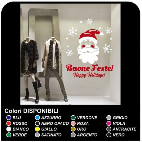 Stickers christmas - Santa Claus on the snow - Decals, christmas - shop-windows for Christmas - stickers christmas