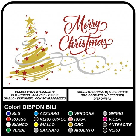 Stickers christmas - Christmas Tree Merry Christmas - Decals, christmas - shop-windows for Christmas