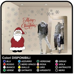 Stickers christmas - Santa Claus with snow-Merry Christmas - window Stickers christmas - shop-windows for Christmas - stickers