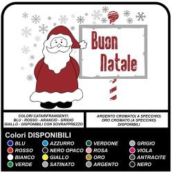 """Pegatinas de navidad - Santa Claus con nieve """"Feliz Navidad"""" - Calcomanías, navidad, escaparates de Navidad pegatinas de navidad"""
