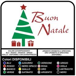 Stickers christmas - Christmas Tree a Merry Christmas - Decals, christmas - shop-windows for Christmas