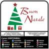 Autocollants de noël - Arbre de Noël un Joyeux Noël - Décalques, de noël des vitrines pour les fêtes de Noël