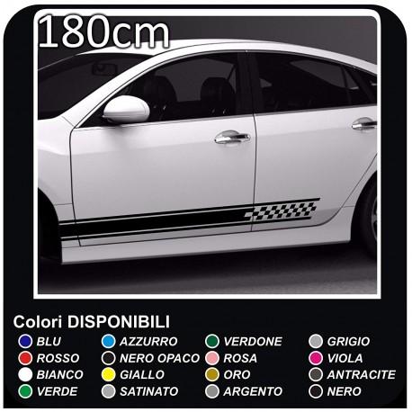 Aufkleber Seitenteile 180 Cm Bmw Amg Aufkleber Mercedes Streifen Bänder Selbstklebende Audi Mini Cooper Viper Fiat 500 Smart