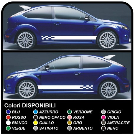Ford Focus St 5dr Komplettes Kit Aufkleber Seitlichen Aufkleber Focus Streifen Focus Abziehbilder Auto Seitlichen Bändern Für