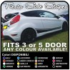 FORD FIESTA MK7 / 8 and Graphics Set Stickers Stripes FIESTA decals car side straps for ford fiesta fiesta