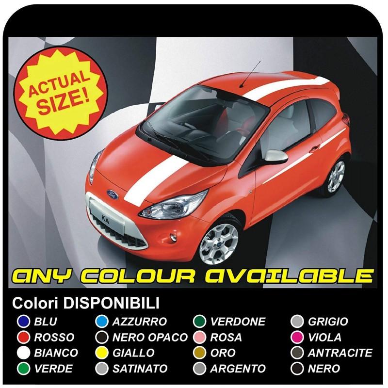 Aufkleber Ford Ka St Okt Streifen Auf Der Motorhaube Und Tettino Auto Tuning Sticker Decals Aufkleber Für Ford Ka