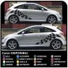 OPEL Corsa pegatinas lado de Rayas, Bandas laterales y Adhesivo Opel Corsa Pegatinas B/C/D/E de la puerta opel corsa lado