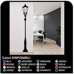 Adesivo da parete lampione antico decorazione arredamento Vinyl Wall  Stickers Decals da applicare in soggiorno camera salotto
