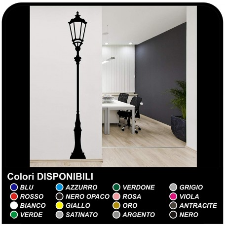 Wall sticker lamp antique decoration decoration Vinyl Wall Stickers Decals to be applied in the living room, sitting room