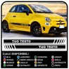 Stickers for FIAT 500 ABARTH KIT side stripes band 595 500 stickers, new 500 assetto corse Stickers Sides