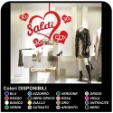 "Stickers and Balances, ""Strong hearts"" - Measures 60x65 cm the window Stickers for sales, shop-windows, stickers, stickers"