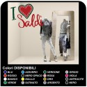 "Adhesive balances in shop windows - ""The love ""balances"" - Measures 60x45 cm - Decals, balances, shop-windows, stickers"
