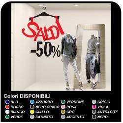 Aufkleber ic-salden - Kleiderbügel-salden - Maßnahmen 60x72 cm - aufkleber-schaufenster-shops für ic-salden