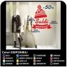"Stickers ""Balances"" winter cap"" - Measures 150x135 cm Decals for balances, stickers for shop windows shops"