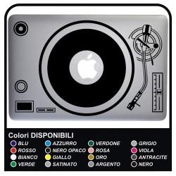 Sticker DJ DISC - pour MacBook et TOUS LES MODÈLES d'ORDINATEUR de 13 à 15 POUCES