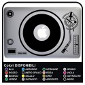 Sticker DJ DISC - for MacBook and ALL of THE COMPUTER MODELS 13-15 INCHES