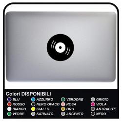 DISCO adhesivo - DJ - PARA TODOS los MODELOS DE Mac Book de Apple 13-15-17 - ADHESIVO PARA CUALQUIER EQUIPO