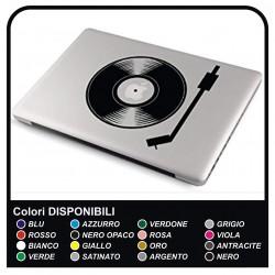 """Autocollant adhésif prespaziato """"DJ"""" pour tous les modèles Apple MacBook Macbook Air est compatible avec TOUS les ordinateurs"""