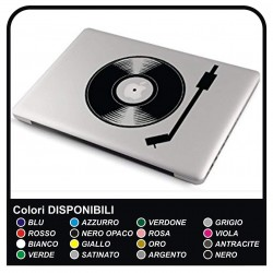 "Sticker adhesive prespaziato ""DJ"" for all models Apple MacBook Macbook Air compatible with ALL notebook"