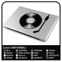 """Sticker adhesive prespaziato """"DJ"""" for all models Apple MacBook Macbook Air compatible with ALL notebook"""