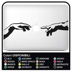 "Sticker""Michelangelo"" for all models Mac Book Apple MacBook 13"" - 15"" stickers are also excellent for other notebook"