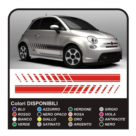 Stickers For Fiat 500 Style Abarth 500 Kit Lateral Strips Stickers For Abarth 500