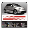 Stickers for FIAT 500, style, abarth 500 KIT lateral strips stickers for abarth 500