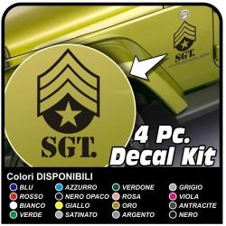 Aufkleber SGT SERGEANT US ARMY für jeep Wrangler Rubicon und Renegade 4x4 stickers decals