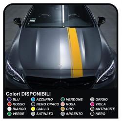 Adhesive hood for MERCEDES BENZ CLA CLASS-C-CL-CLA-SL-SLK-AMG 65 55 AMG Stripes Sticker Set hood for mercedes