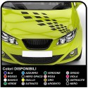 Adhesive stripes for hood Chess Strips Stickers bonnet car tuning bmw Performance audi all cars