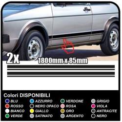 VOLKSWAGEN VW GOLF 1 stickers side stripes (full set) side bands golf IV