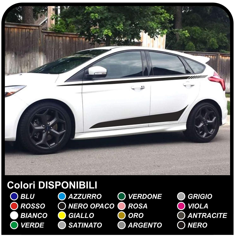 Paar Aufkleber Seitlich Ford Focus Grafik Seitliche Focus Set Sticker Focus Streifen Auto Abziehbilder