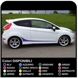 FORD FIESTA MK7 / 8 et l'Ensemble de Graphismes de Stickers Bandes FIESTA autocollants de voiture sangles latérales pour ford