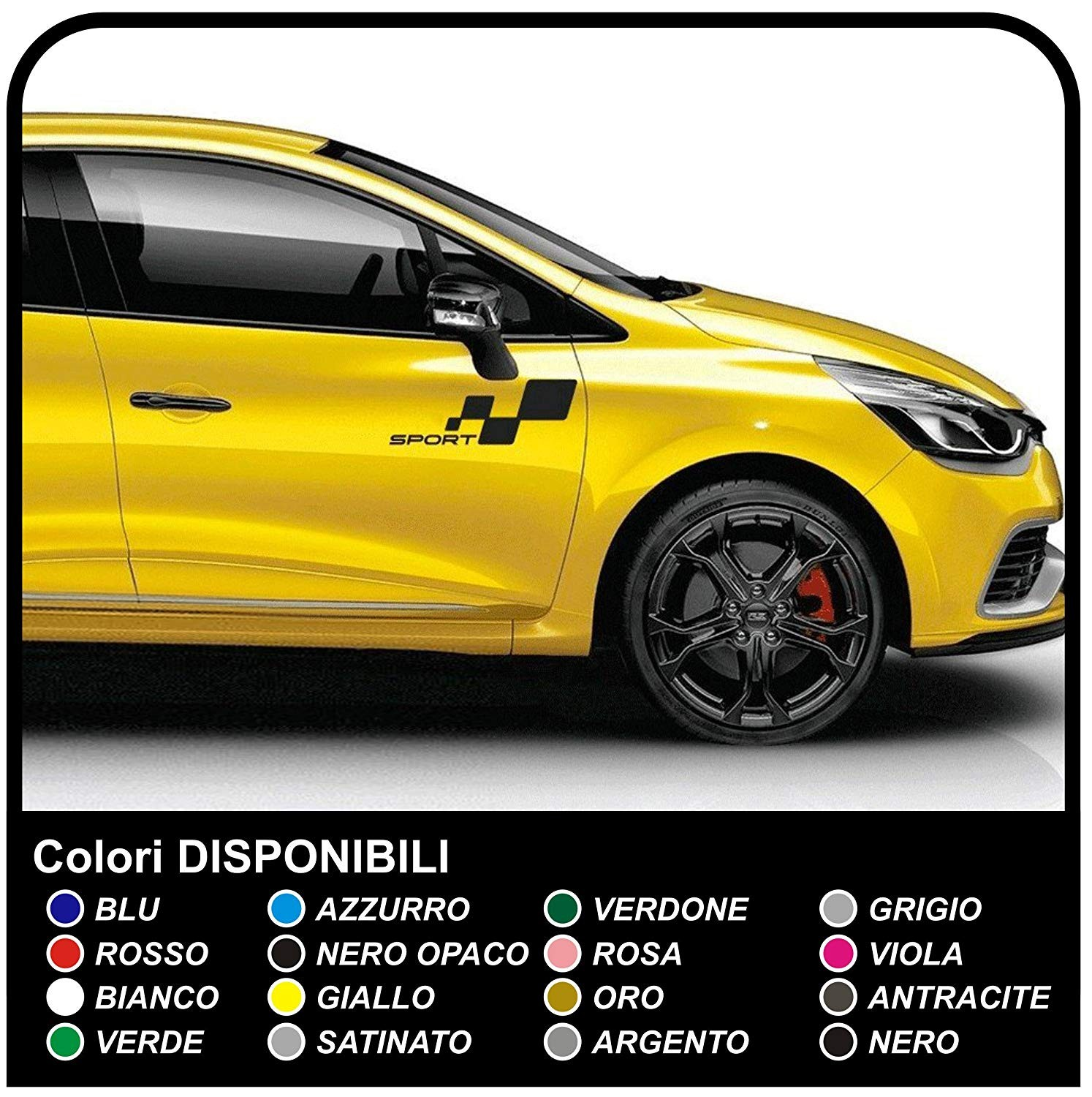 Stickers For The Renault Clio Rs Clio Williams Clio 2 0 Rs Sport New Clio Graphic Set Stickers Clio