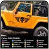 adesivi portiera teschio alato jeep wrangler per fuoristrada e suv Skull Willys US Army adesivi laterali per auto Tuning