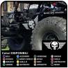 sticker tür geflügelten totenkopf-jeep wrangler-geländewagen-und suv-Schädel Willys US Army aufkleber seite für auto-Tuning