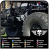 stickers door winged skull for jeep wrangler for off-road vehicles and suv's Skull Willys US Army stickers to the side for car