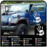 Stickers HAND-worn effect for door, Jeep Renegade, Wrangler, Compass and Willys stickers off-road and suv