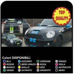 Kit adhesive stripes HOOD ROOF AND TRUNK COOPER MINI ONE S WORKS John Cooper ONE - COMPATIBLE WITH ALL MODELS OF MINI
